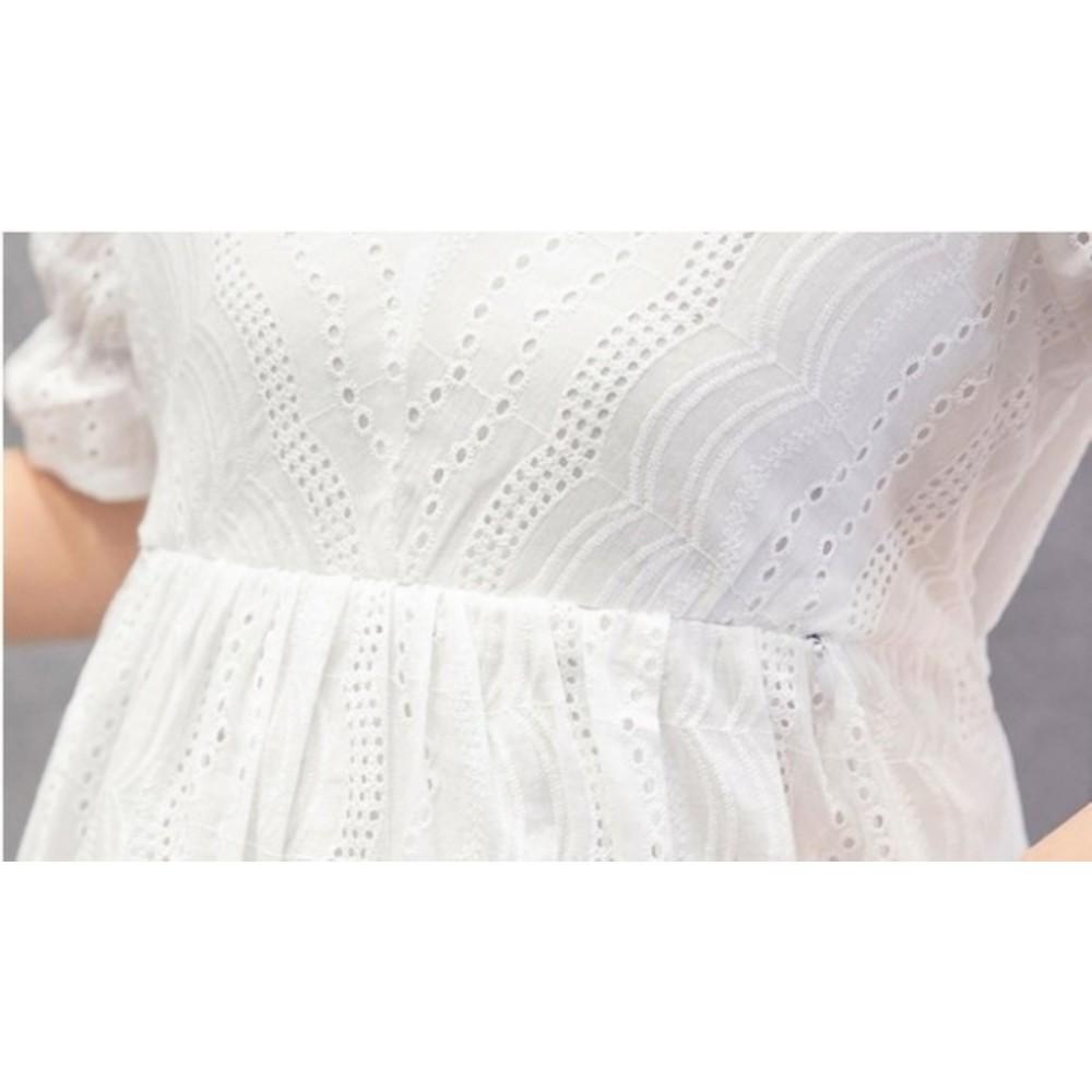 唯美氛圍哺乳裙 【B2030】 布蕾絲 泡泡 短袖 孕婦裝 娃娃裝 哺乳衣 哺乳洋裝
