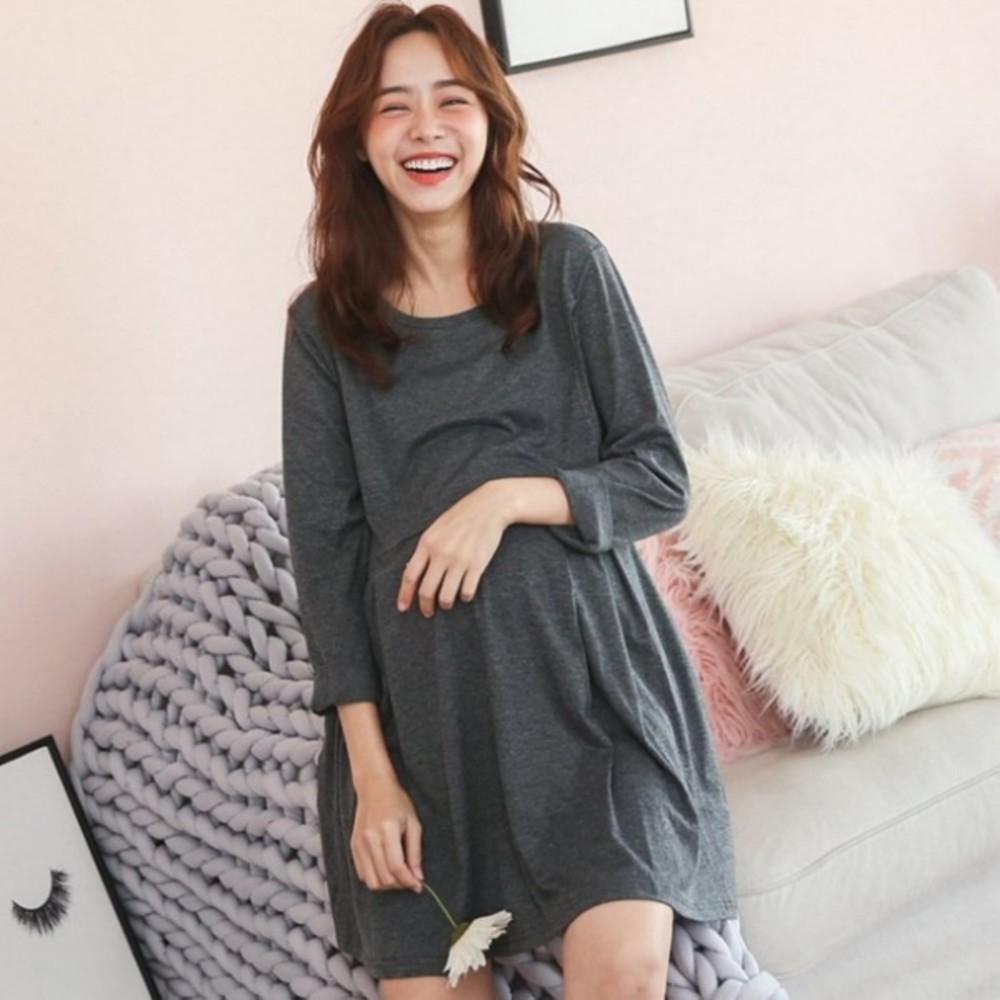 哺乳裝【B2150GU】 寬鬆 親膚 大碼孕婦連衣裙 封面照片