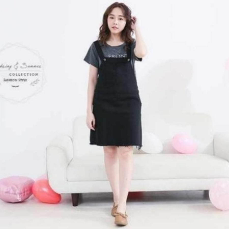 韓國背心裙十哺乳衣 【B2709GU】 吊帶裙 二件式 哺乳衣 孕婦裝 哺乳裙 孕婦洋裝