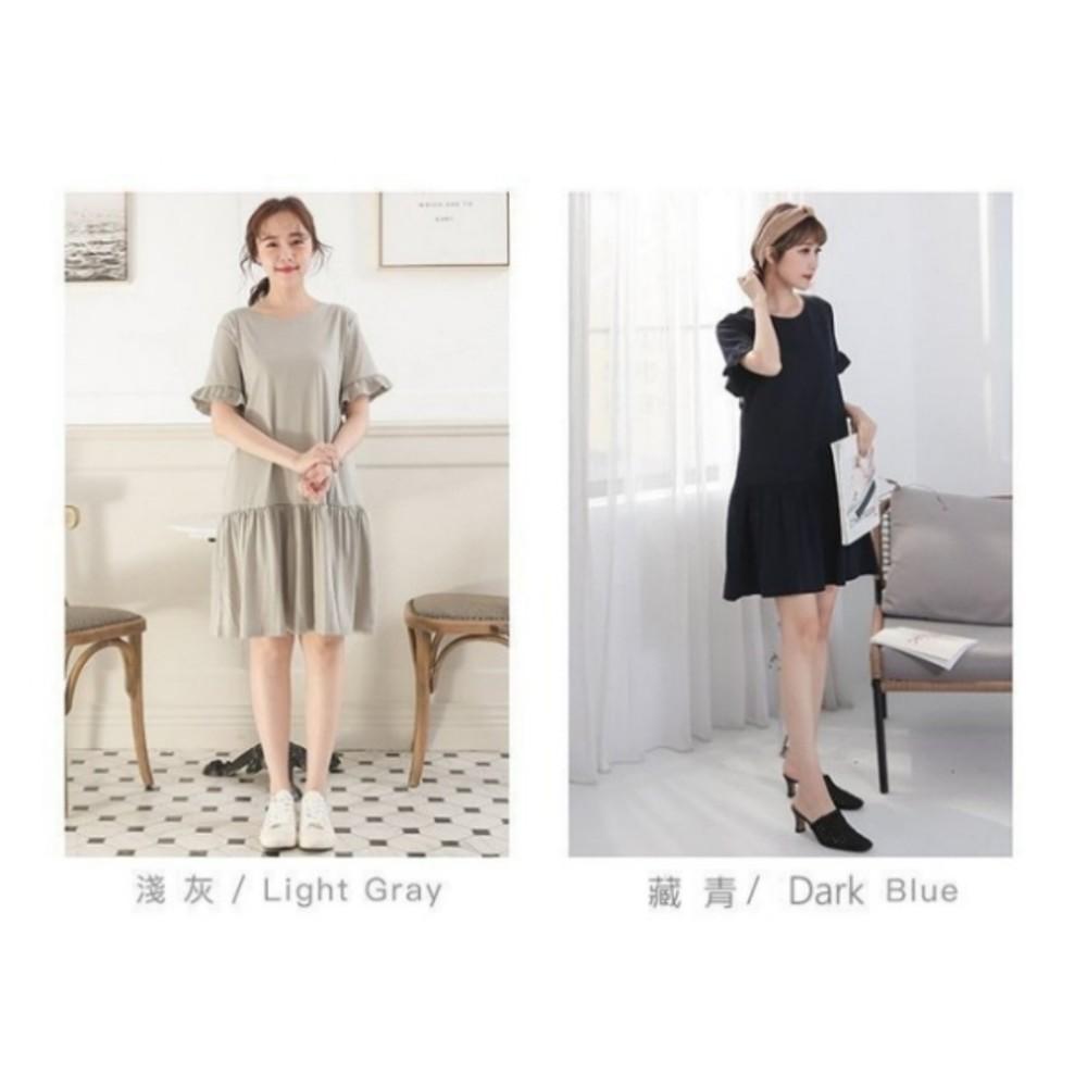 荷葉哺乳裙【B3500GU】荷葉袖 短袖 孕婦裝 哺乳裙 哺乳裝 喇叭袖