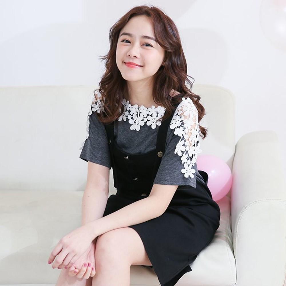 哺乳棉T吊帶裙組 【B6009GU】二件式 孕婦裝 哺乳裝 哺乳上衣 孕哺二穿