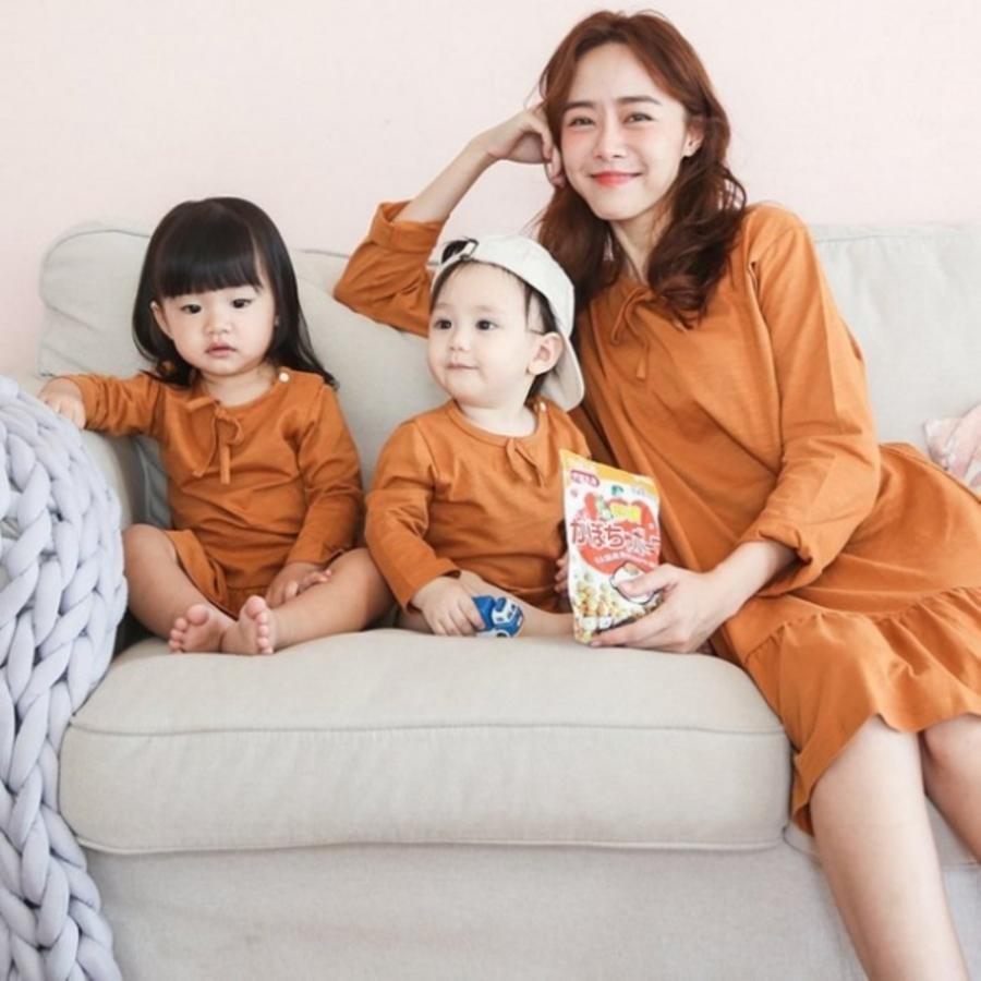 哺乳 親子裝 套組【BS0250GU】休閑兩件套孕婦連衣裙親子裝哺乳衣