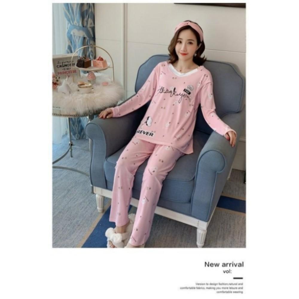 哺乳套裝 【BS1028】蕾絲 V領 冰淇淋 輕薄 長袖 柔棉 哺乳睡衣 月子裝 哺乳裝