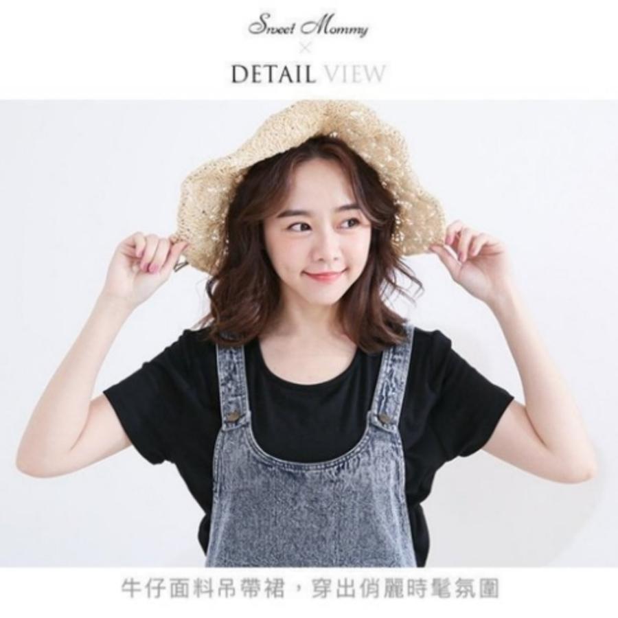哺乳衣 【BS5009GU】牛仔裙 兩件式 短袖 背心裙 哺乳洋裝 孕婦裝 哺乳裙