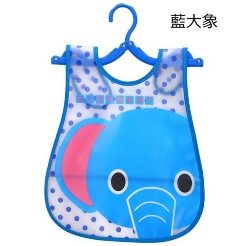 加大版寶寶圍兜 【BW0055bib】 反摺 防水 口水巾 粉紅熊/小汽車/小熊貓/ 圍兜 加長