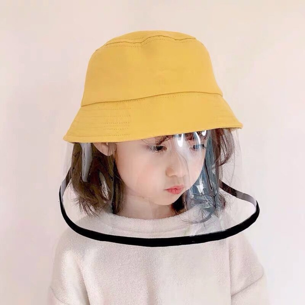 BW1111-漁夫帽 防飛沫 防疫 面罩 防疫帽【BW1111】兒童 成人 寶寶 盆帽 遮陽 防曬 兒童帽 可拆