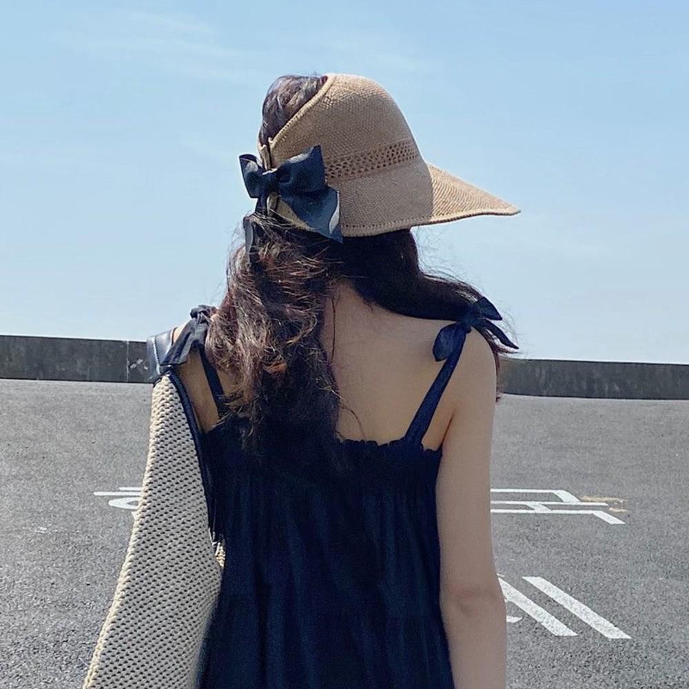 韓系 遮陽帽 【BW1827】防紫外線 太陽帽 防曬 空頂帽 草帽 帽子 女 夏天 出遊
