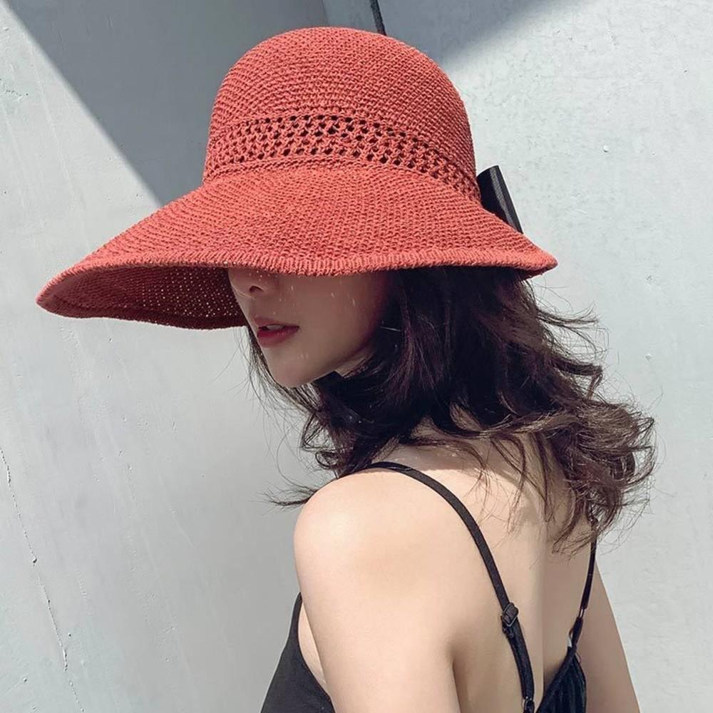 韓系 遮陽帽 【BW1827】防紫外線 太陽帽 防曬 空頂帽 草帽 帽子 女 夏天 出遊 封面照片