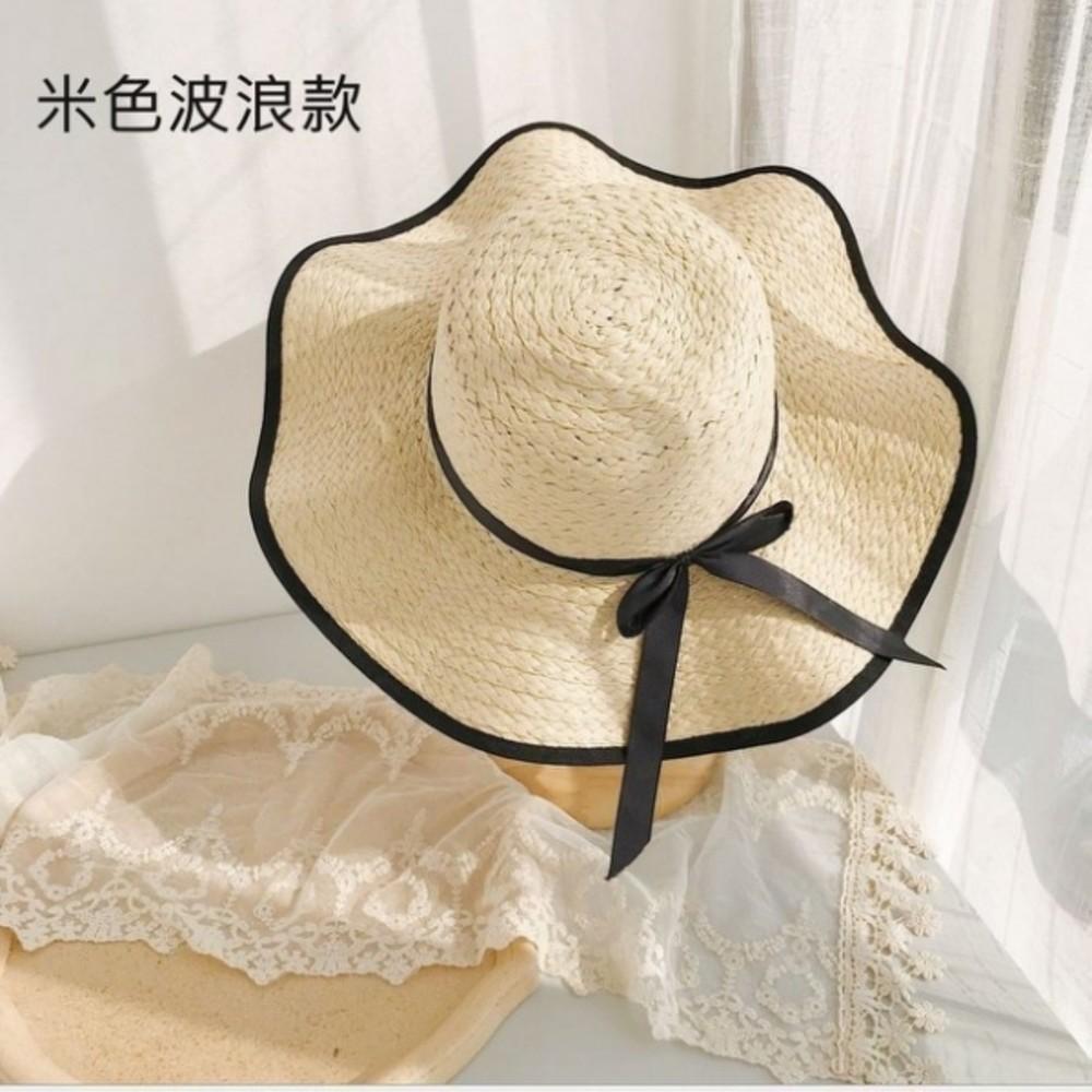 韓系 沙灘帽【BW2138】 純色 大帽檐 遮陽帽 女性 成人 防曬 草帽