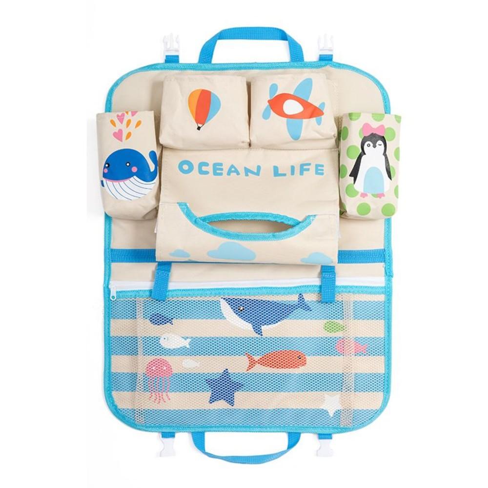 BW2200 - 寶寶車用掛袋 【BW2200】 卡通 汽車用 椅背 掛袋 收納袋 置物袋 車座椅 折疊 掛式