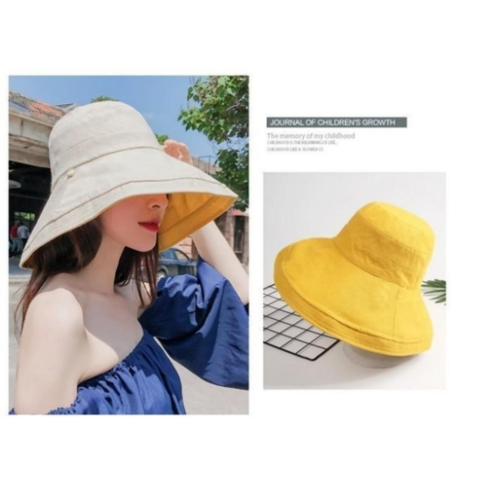 韓系漁夫帽【BW2861】 雙色帽 遮陽帽 女性 成人 防曬 漁夫帽 大帽檐 盆帽