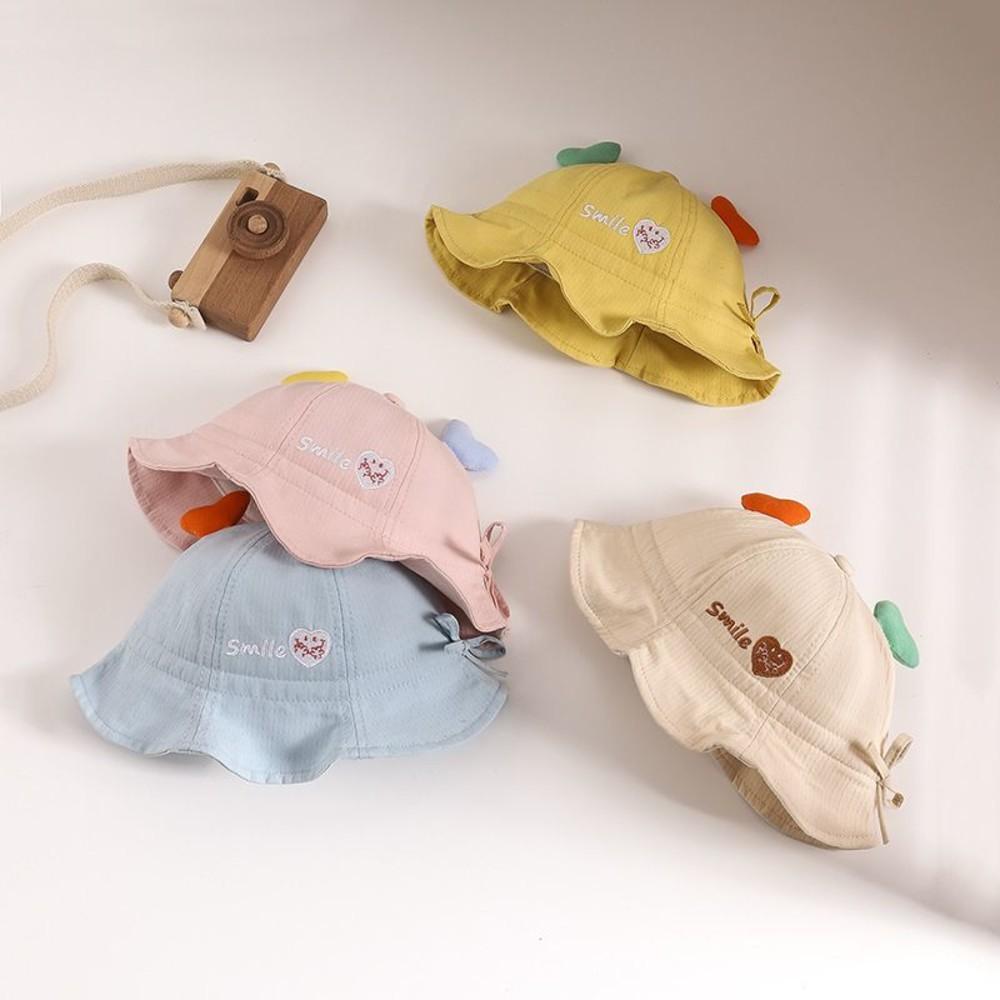 韓系 愛心 微笑 漁夫帽 防飛沫 防疫 面罩 防疫帽【BW2990】 寶寶 盆帽 遮陽 防曬 兒童帽