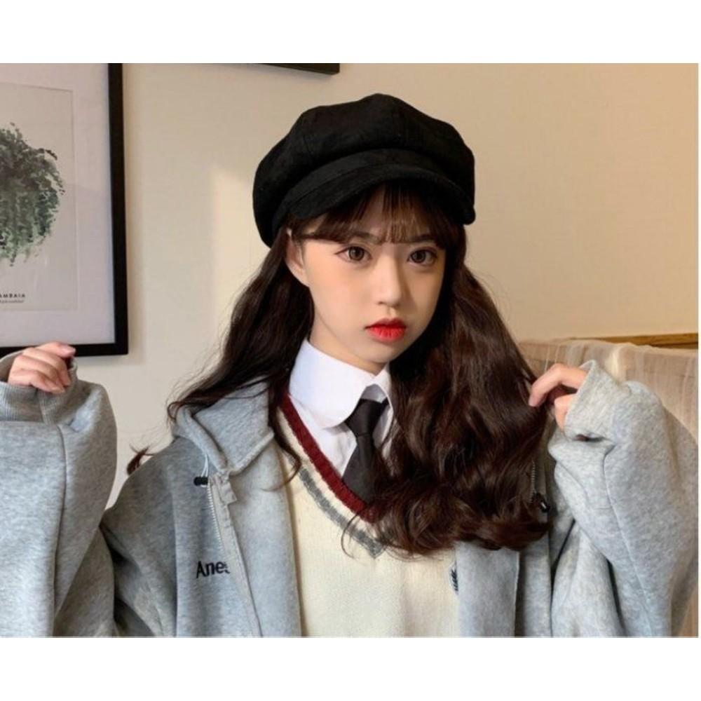 畫家帽 【BW3060】韓版 日系 文藝 畫家帽 麂皮絨 保暖 鴨舌 帽子冬季