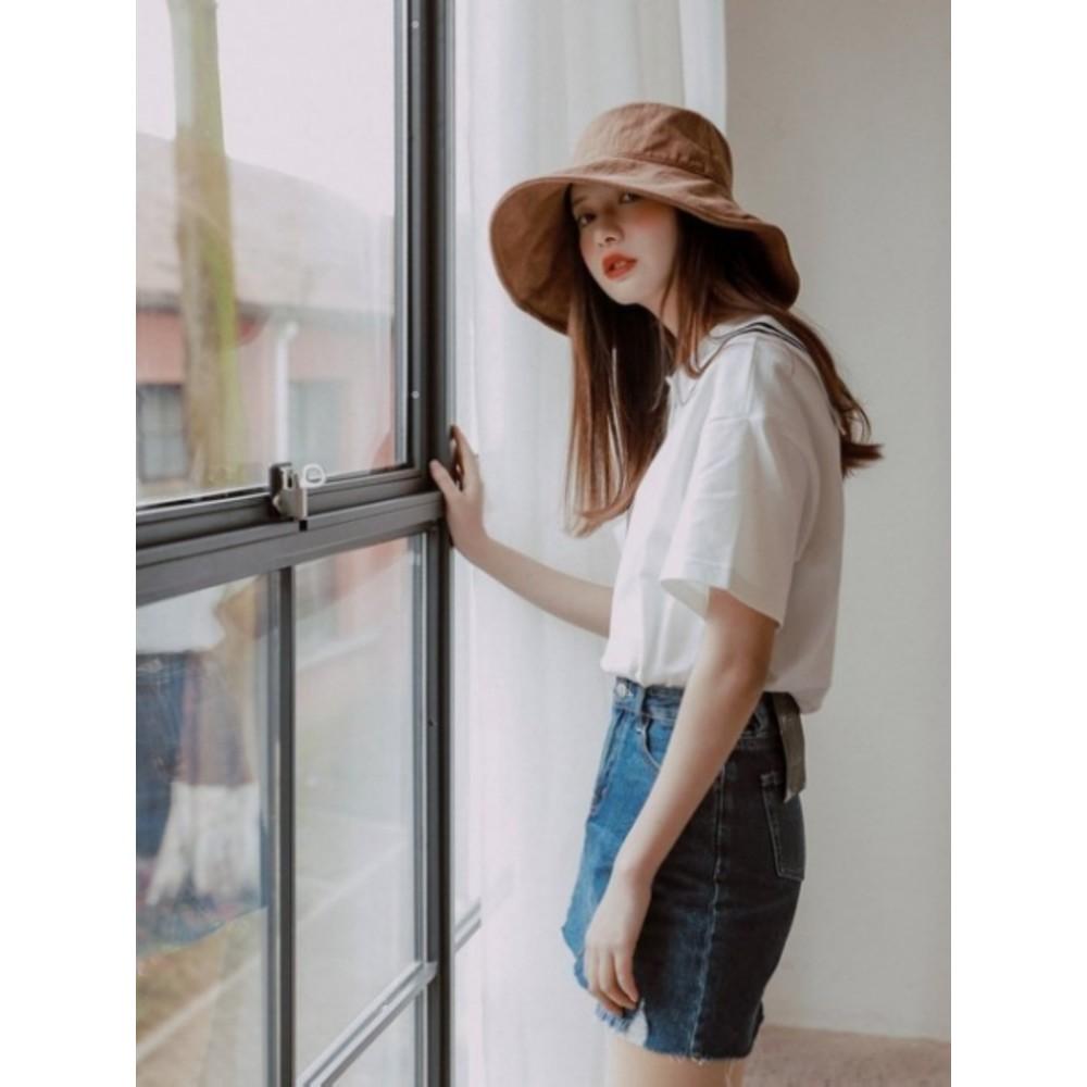 韓系 漁夫帽【BW3116】 純色 棉麻 遮陽帽 女性 成人 防曬 漁夫帽