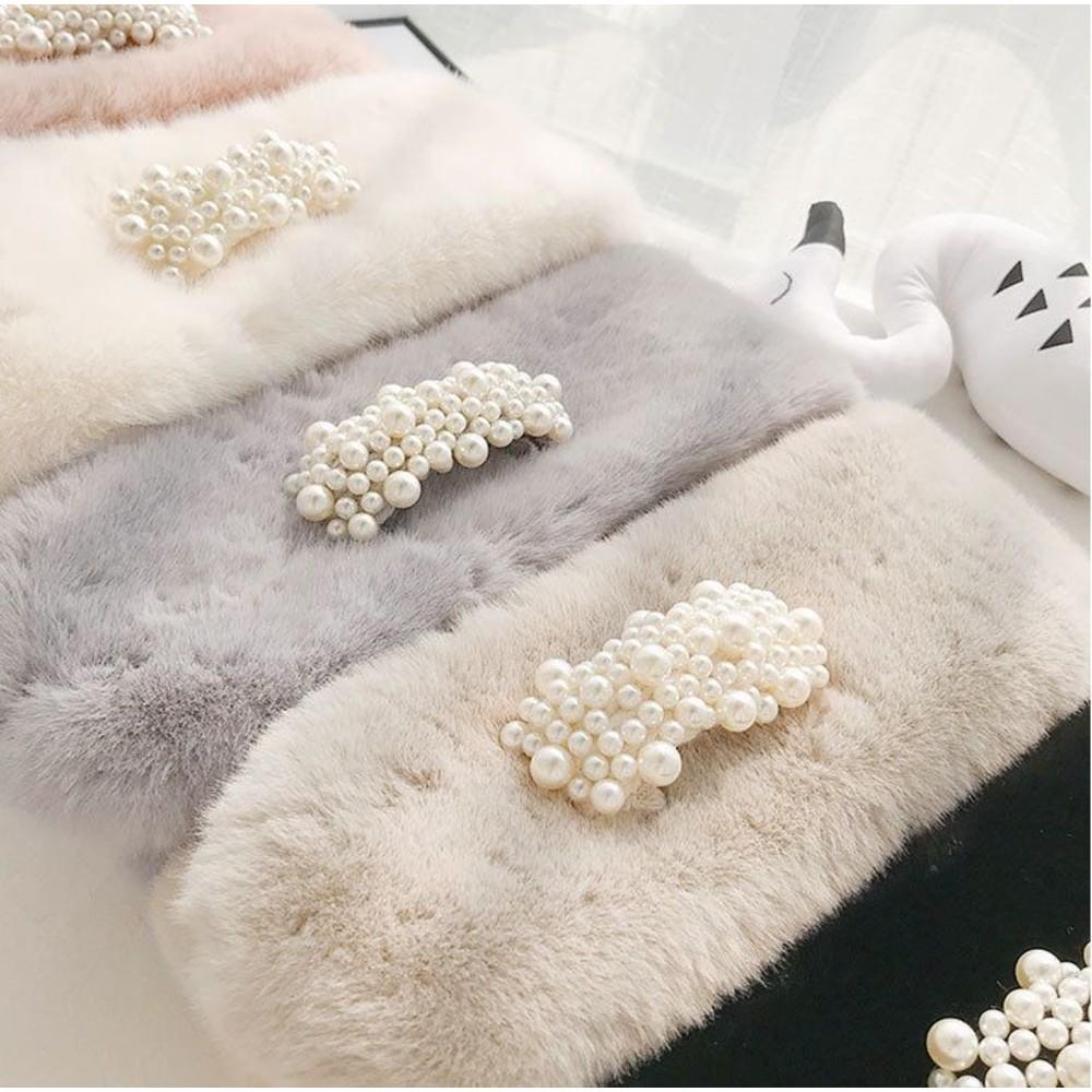實拍 毛圍巾 圍脖【BW3851】珍珠 親膚 毛領 韓系 實拍 仿皮草 脖圍 仿兔毛 圍巾
