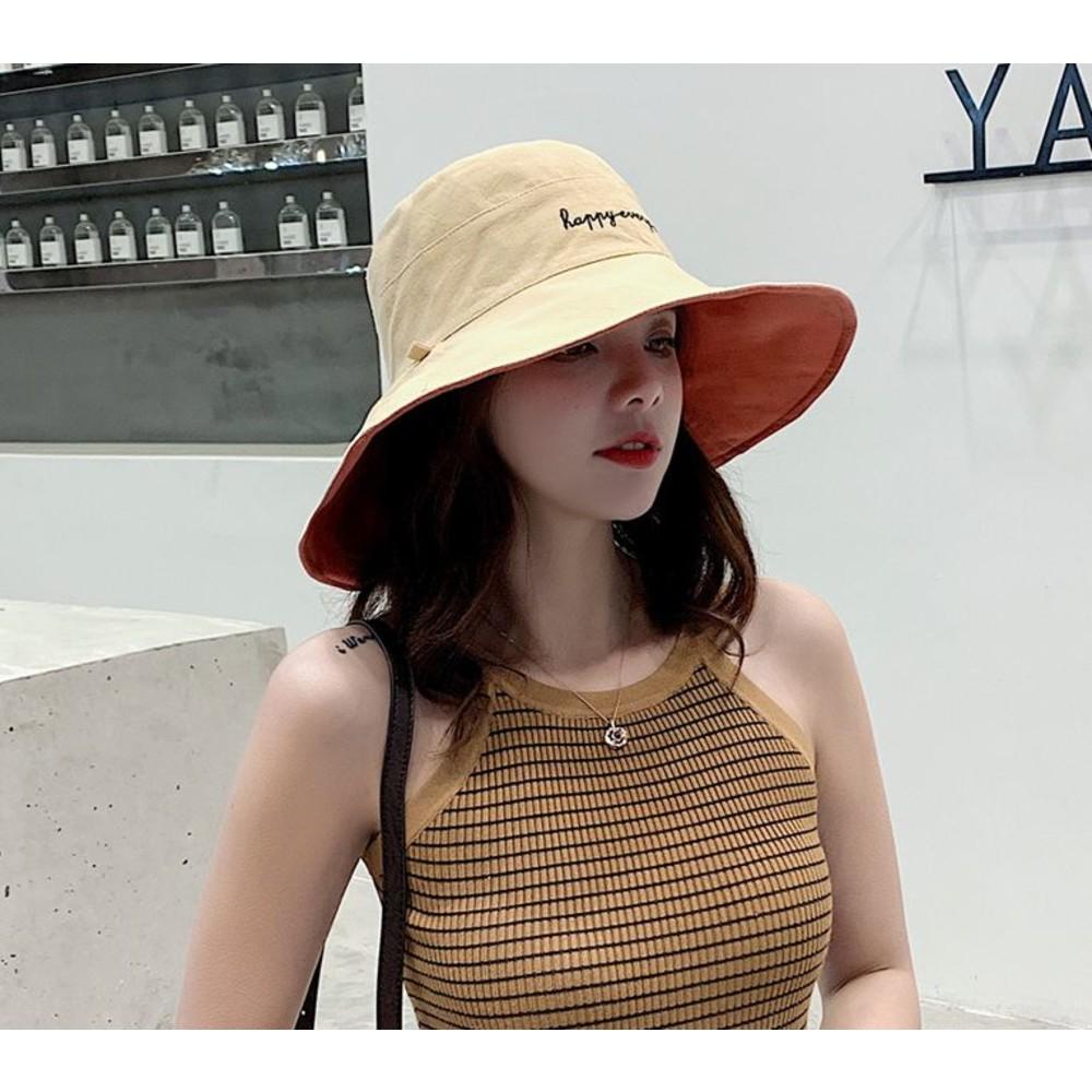 韓系漁夫帽【BW3871】 雙色帽 遮陽帽 女性 成人 防曬 漁夫帽 大帽檐 盆帽