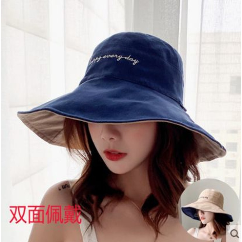 BW3871-韓系漁夫帽【BW3871】 雙色帽 遮陽帽 女性 成人 防曬 漁夫帽 大帽檐 盆帽