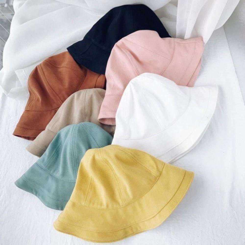 韓系漁夫帽【BW4127】 純色 棉麻 遮陽帽 女性 成人 防曬 漁夫帽