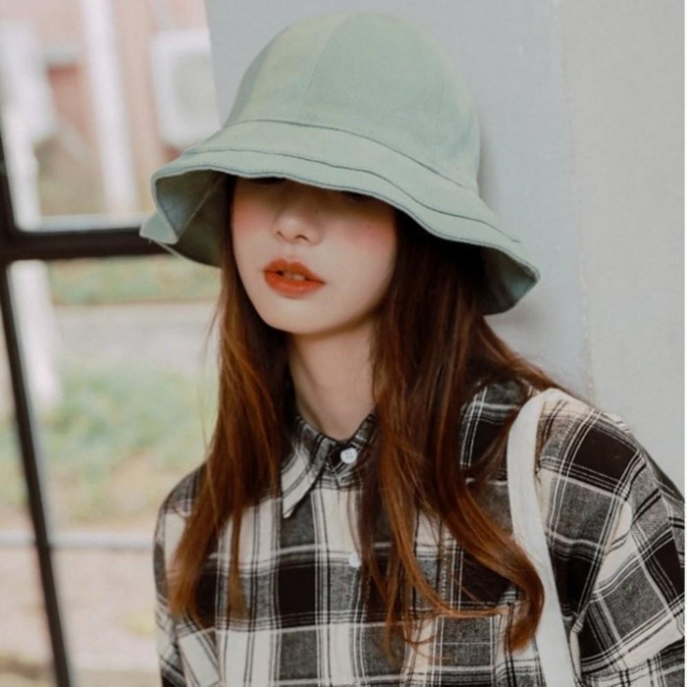 BW4127 - 韓系漁夫帽【BW4127】 純色 棉麻 遮陽帽 女性 成人 防曬 漁夫帽