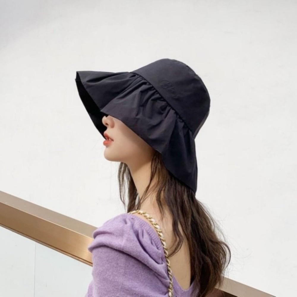 韓系 質感 漁夫帽【BW8137】 荷葉邊 遮陽帽 女性 成人 防曬 桶帽 漁夫帽 封面照片