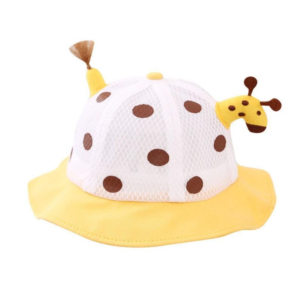 超可愛 長頸鹿 網狀 透氣 防飛沫 面罩 漁夫帽【BW9091】 鹿鹿 童帽 可拆式 防疫帽