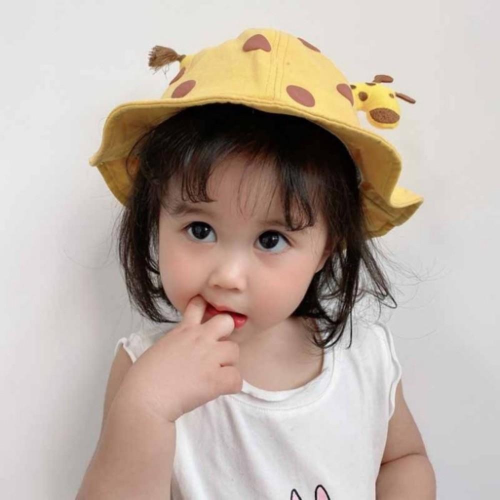 韓國超萌小鹿漁夫帽【BW9190】 可愛卡通寶寶盆帽遮陽防曬漁夫帽 兒童帽子春夏