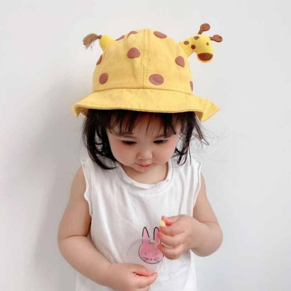 韓國超萌小鹿漁夫帽【BW9190】 可愛卡通寶寶盆帽遮陽防曬漁夫帽 兒童帽子春夏 封面照片