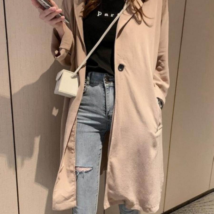 韓系外套 【C0039】 休閒 孕婦裝 長外套 寬鬆 大衣