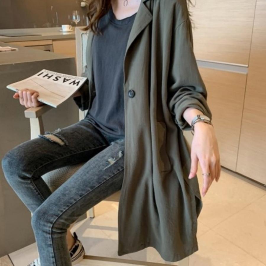 韓系外套 【C0039】 休閒 孕婦裝 長外套 寬鬆 大衣 封面照片