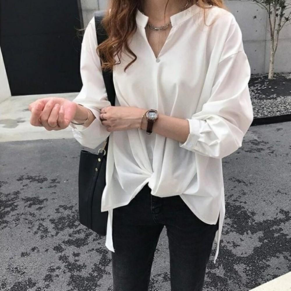 韓系雪紡上衣 【C2619】 孕婦裝 寬鬆 雪紡襯衫 加大