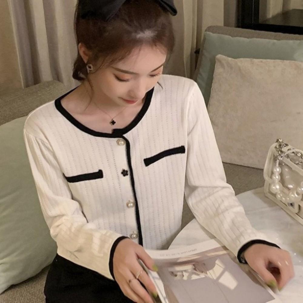 韓版 寬鬆【C5926】針織衫 秋季 個性 單排扣 百搭時尚 針織外套 封面照片