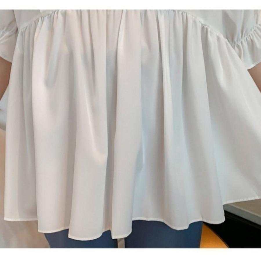 荷葉 上衣【C8437】 V領 襯衫 娃娃裝 孕婦裝