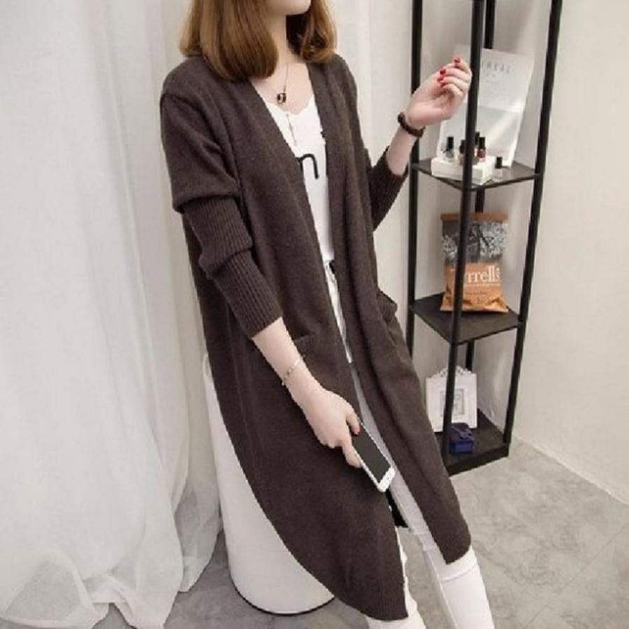 修身 顯瘦 針織外套【C9588】女裝 毛衣外套 女 百搭 中長款 寬鬆 針織衫 開衫 外套