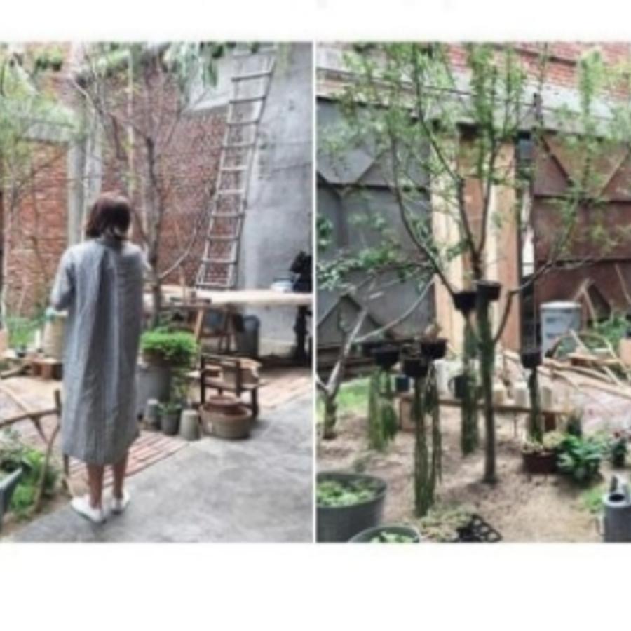 韓系洋裝 【D1176】 寬鬆 七分袖 條紋 開叉 翻領 開襟 襯衫洋裝 長版襯衫 孕婦裝