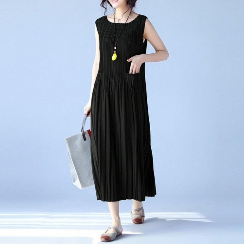 韓版背心壓折洋裝 【D1279】 寬鬆 長裙 短袖 孕婦連衣裙 高腰 長洋裝 孕婦洋裝 孕婦裝