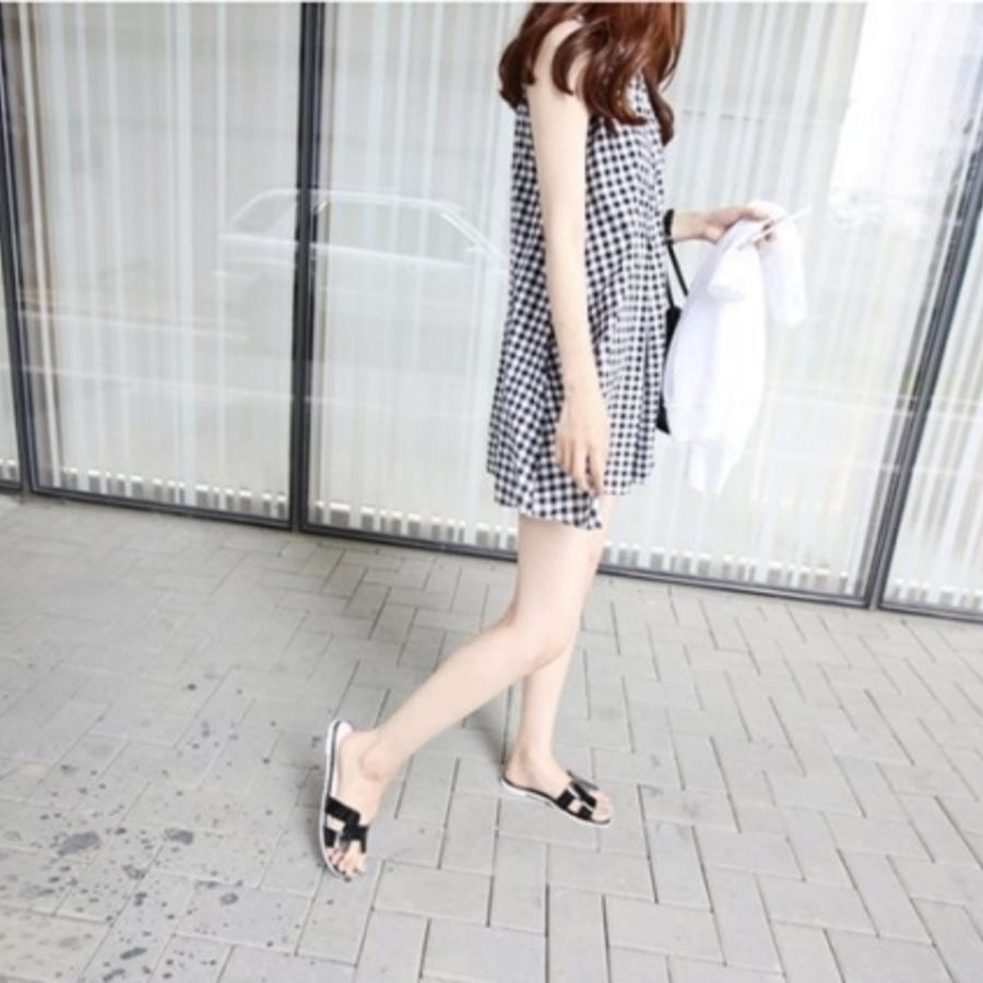 無袖棉麻背心裙 【D1997TZ】 格紋 無袖 開釦 孕婦裙 孕婦裝洋裝