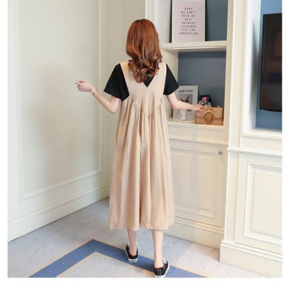 背心長裙 【D3619】 無袖 親膚 吊帶裙 孕婦裝 背心裙 背心洋裝 長裙