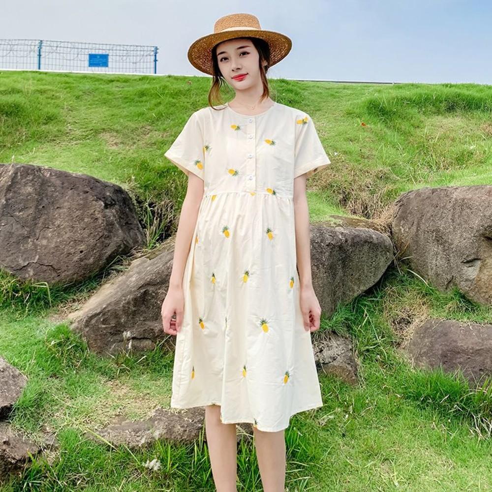 假兩件格紋襯衫百褶背心裙洋裝【D5210】M-4XL 拼接 蝴蝶結領 連衣裙 長裙