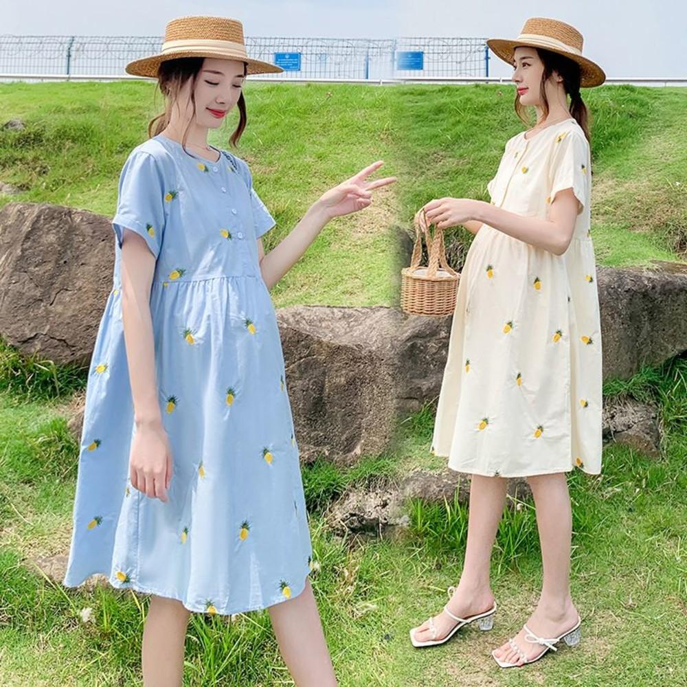D5210 - 假兩件格紋襯衫百褶背心裙洋裝【D5210】M-4XL 拼接 蝴蝶結領 連衣裙 長裙