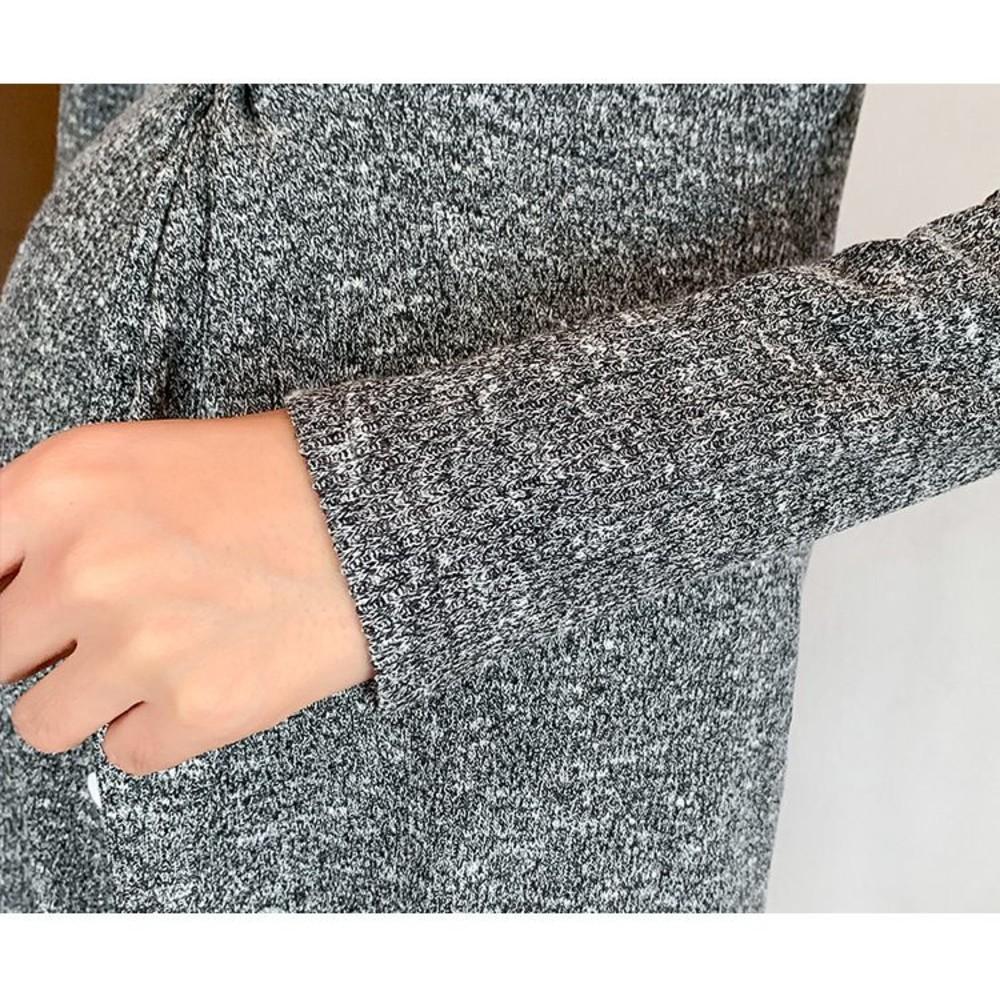 韓系 實拍 V領 針織裙【D6336】長袖 可開扣 哺乳裙 連衣裙 洋裝
