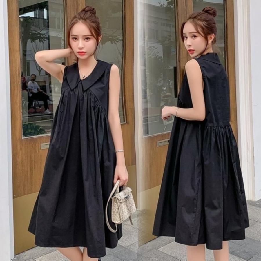 韓系無袖洋裝 【D6404】 純色 傘狀 無袖洋裝 孕婦 洋裝 孕婦洋裝 孕婦裝