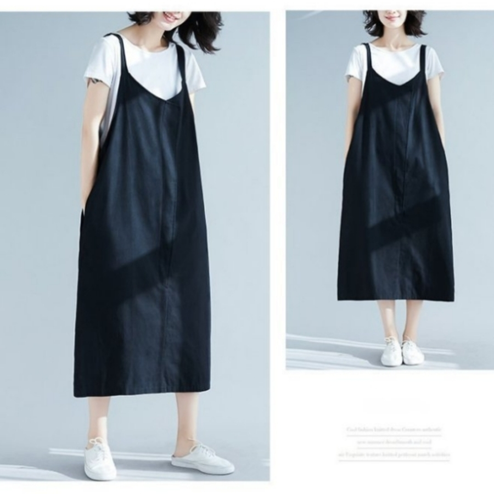 背心洋裝 【D8801】 純色 背心裙 背心長裙 吊帶裙 孕婦裝 孕婦洋裝