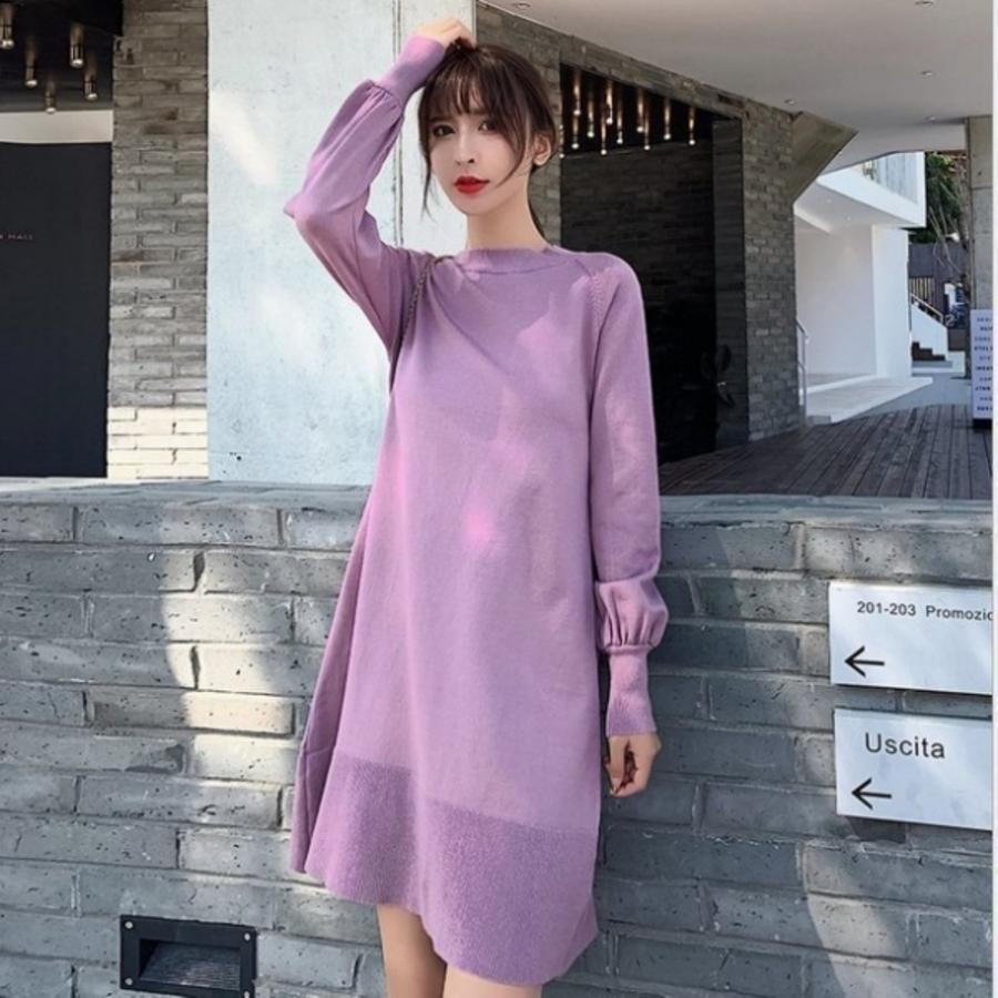 針織裙 【DB5512】韓系 細緻針織 V領 親膚棉感 高質感 彈力 毛衣裙 孕婦裝 針織洋裝