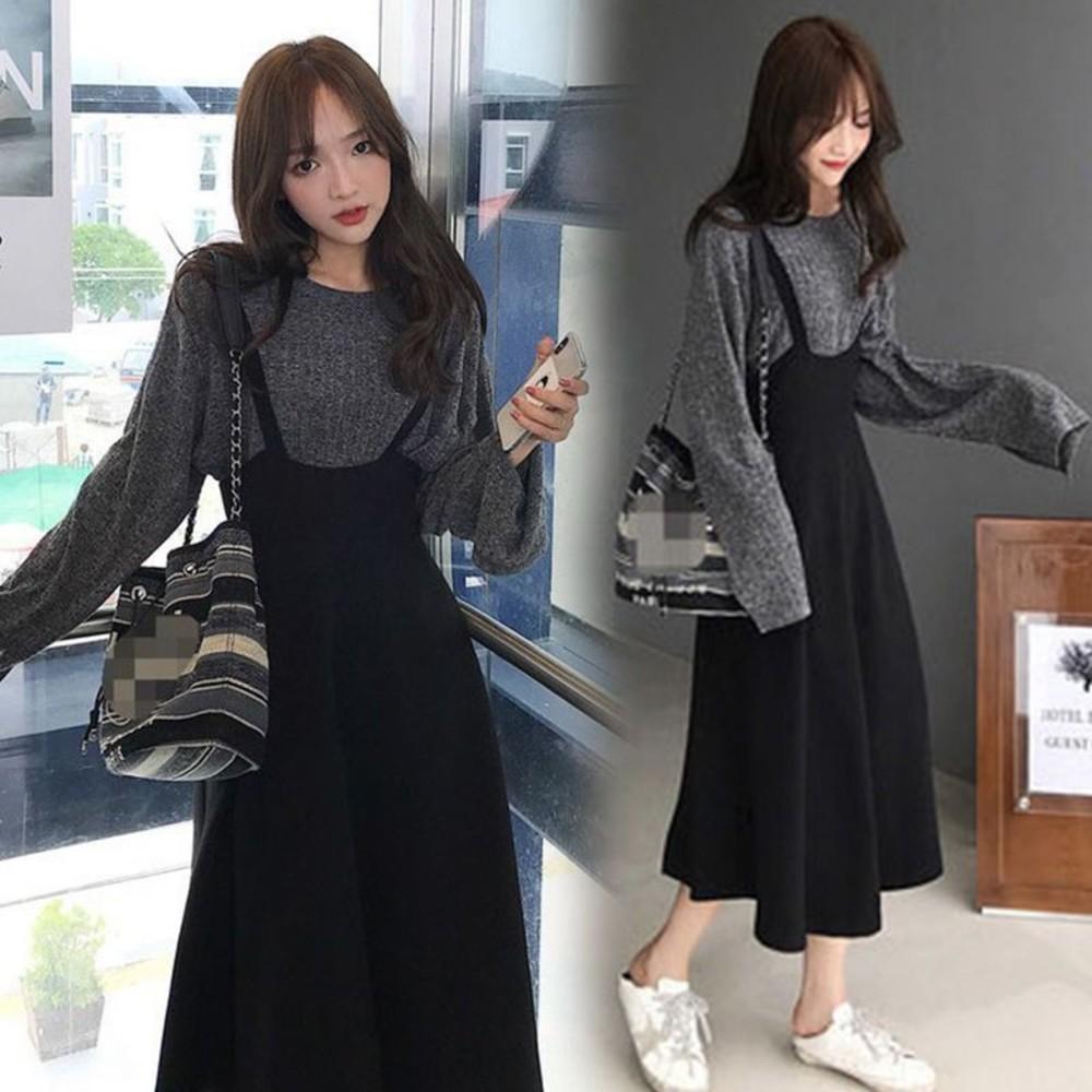 韓系 吊帶裙 套裝【DS3062】背心裙 套裝 吊帶洋裝 連身裙