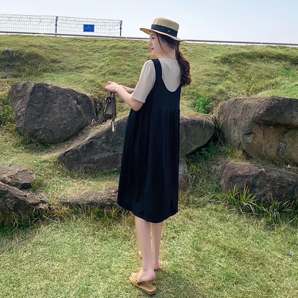 實拍 韓系 兩件式 背心 洋裝【DS7028】冰絲 涼爽 兩件套 背心裙 吊帶 連身裙 吊帶裙