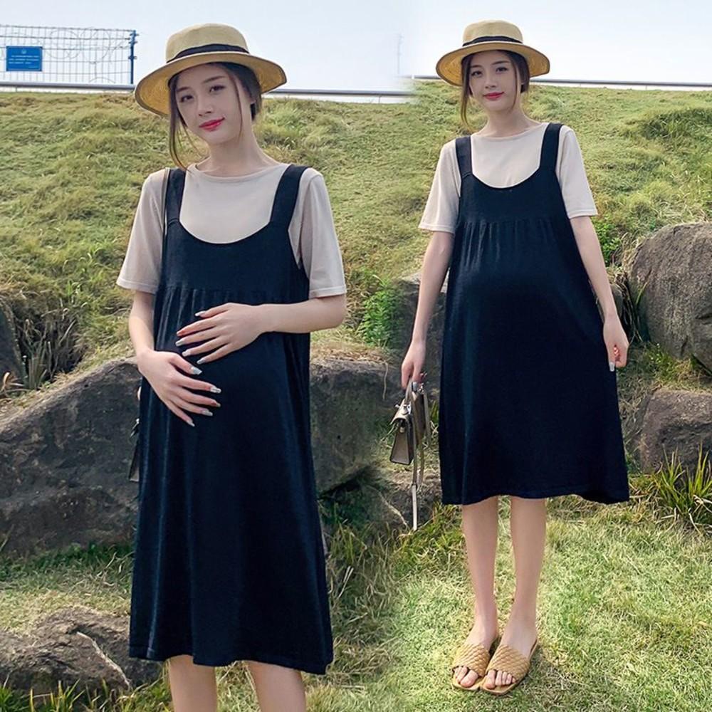 DS7028 - 實拍 韓系 兩件式 背心 洋裝【DS7028】冰絲 涼爽 兩件套 背心裙 吊帶 連身裙 吊帶裙