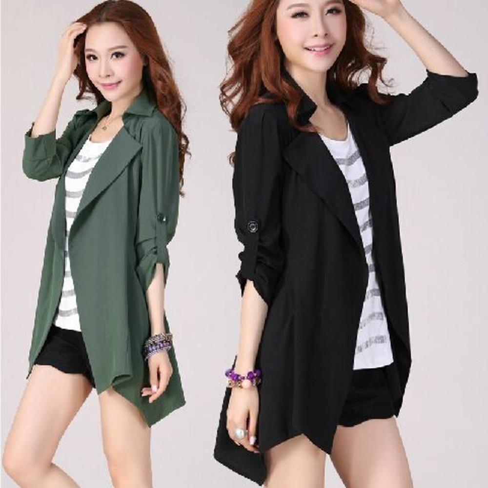 風衣外套 【J2450LA】 孕婦翻領外套 孕婦外套 輕鬆優雅修身顯瘦雪花絨孕婦