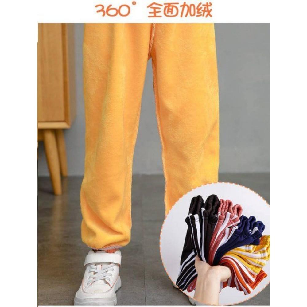 秋冬款 兒童 褲子 男童 休閒褲 黃金絨 【KP2116】女童束口褲 運動褲 加絨 加厚 寬鬆 縮口褲 保暖褲