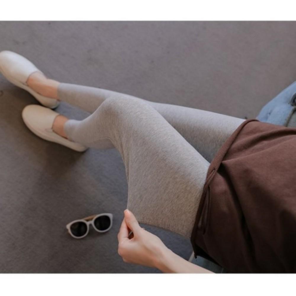 內搭褲 【L0004】 親膚 彈力 純色 腰圍可調 舒適 孕婦內搭褲 孕婦托腹褲 四季百搭