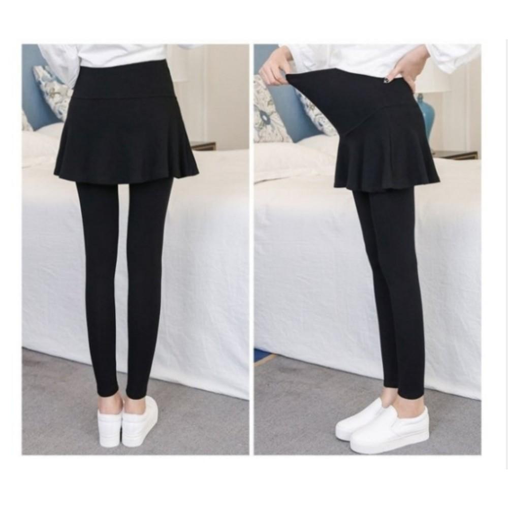 假二件 托腹褲裙 【L00127WM】 假兩件 短裙 素色 托腹 褲頭 腰圍可調